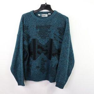 90s Fresh Prince Mens Large Crewneck Sweater Green